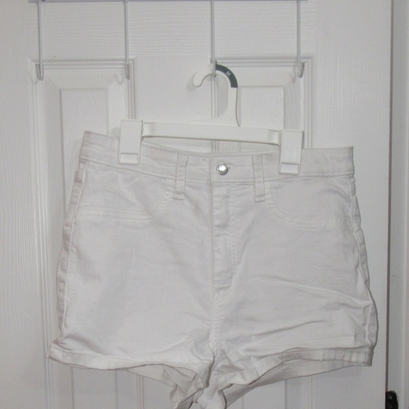 Wild fable white denim high waisted shorts